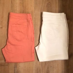 LOT OF 2 Cropped Ankle Pants for Women Size 10